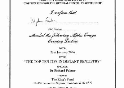 Implants Top Ten Tips