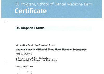 Bern University Master Class in GBR & Sinus Floor Elevation