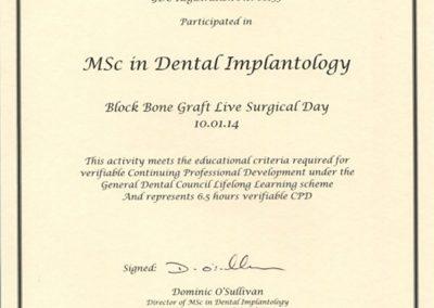Block Bone Graft Live Surgical Day