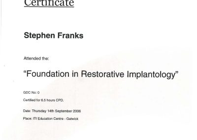 ITI Foundation in Restorative Implantology