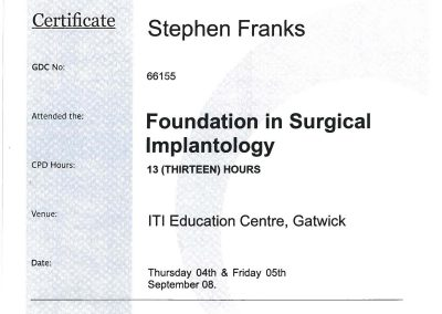 ITI Foundation in Surgical Implantology