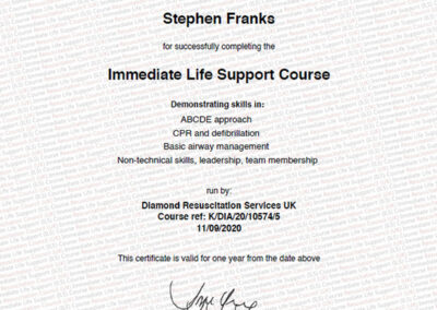 Resuscitation Council Life Support Course